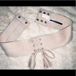 Express New Light Pink Waist Belt